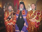 Bishop Longin with his Serbian protodeacons Milovan and Pavle