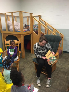 Reading stories to young children