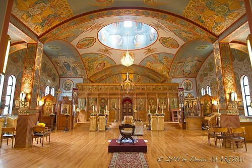 Interior of Holy Virgin Protection Cathedral