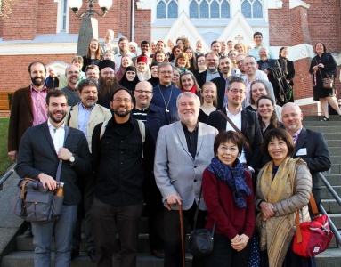 The participants of the 2017 ISOCM Conference represent a variety of Orthodox Churches from around the world, along with Roman Catholic, Byzantine Catholic and Lutheran traditions
