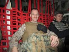 On C-130 flight to Afghanistan