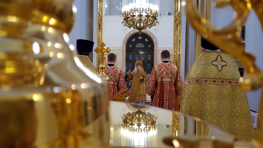 Archbishop Peter in St. Catherine's Cathedral